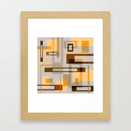 Mid Century Modern Blocks on Sand Framed Art Print