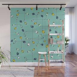 cute ballflower mint Wall Mural
