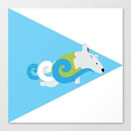 Swimming Polar Bear Triangle Canvas Print