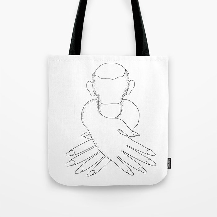 male in female hands Tote Bag