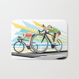 Illustration Graphic Design: Finish Line Bath Mat