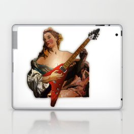 Girl with A Flying V  Laptop & iPad Skin