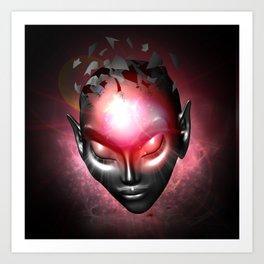 Alien Mental System Art Print