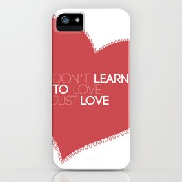 Something about love iPhone Case