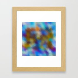 blue brown and pink plaid pattern Framed Art Print