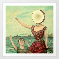 neutral milk hotel Art Prints featuring Neutral Milk Hotel - In The Aeroplane Over The Sea by NICEALB