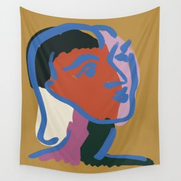 Ninette 03 Modern portrait Wall Tapestry