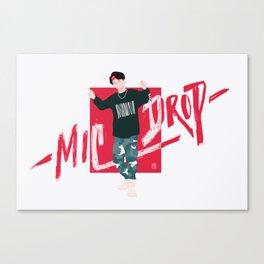 MicDrop Seokjin Canvas Print