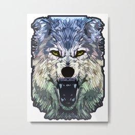 Wolf Icon 03 Metal Print