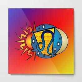 astrology,Leo Metal Print