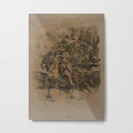 Cavalier, or the Flight Metal Print