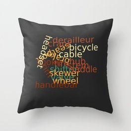 I Love Bicycles Throw Pillow