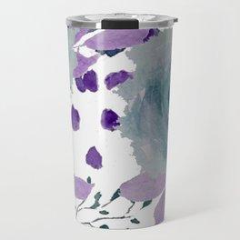 Blue Roses Lavender Watercolor Travel Mug