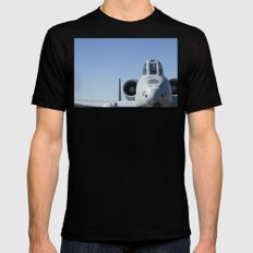 A10 A-10 Thunderbolt Warthog Military Aircraft/Airplane Detail USAF Mens Fitted Tee Black MEDIUM
