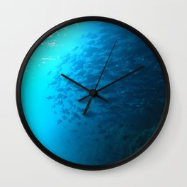 Into the mist, Cloud of Blue Mao Mao  Wall Clock