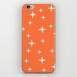 Mid Century Modern Star Pattern 443 Orange iPhone Skin