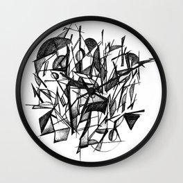 Geometric Sketch Wall Clock