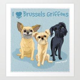 Brussels Griffon Art Print