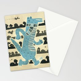 Gator Goes for a Stroll Stationery Cards