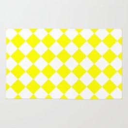 Diamonds - White and Yellow Rug