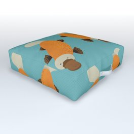 Whimsy Platypus Outdoor Floor Cushion