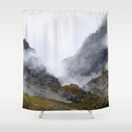 Nameless Mountains Shower Curtain
