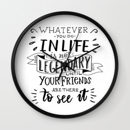 Barney Stinson philosophy 1 Wall Clock