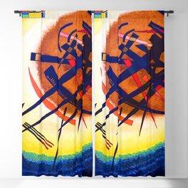 Kandinsky Bright Oval Blackout Curtain