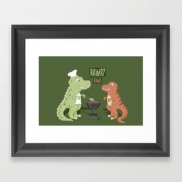Rawr Framed Art Print