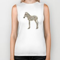 zebra Biker Tanks featuring zebra by bri.buckley