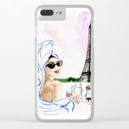 Brunch  in Paris Clear iPhone Case