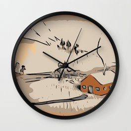 Landscape Low Poly Wall Clock