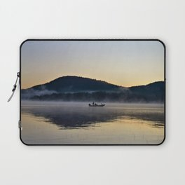 Fishing in the Morning Mist Laptop Sleeve
