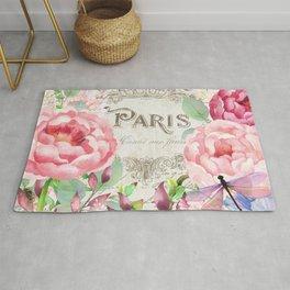 Paris Flower Market III Rug