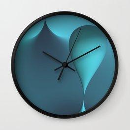 turquoise geometry -2- Wall Clock