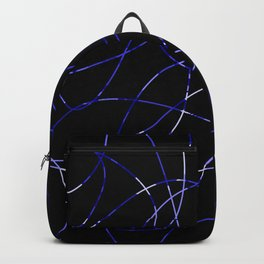 Abstract Threads Blue Dapple Backpack