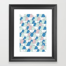 WINTER MOUNTAIN Framed Art Print