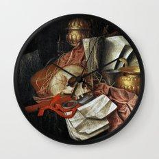 Vintage Vanitas - Still Life with skull 2 Wall Clock