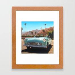 TBird Convertible Framed Art Print