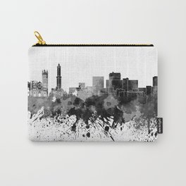 Genoa skyline in black watercolor Carry-All Pouch