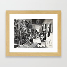 Pablo PIcasso The Maids Of Honor, Las Meninas, after Velázquez, 1957 Artwork Reproduction, Tshirts, Framed Art Print