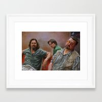 big lebowski Framed Art Prints featuring Big Lebowski by Pavel Sokov