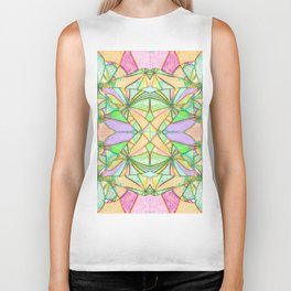 217 - Abstract distressed colourful design Biker Tank