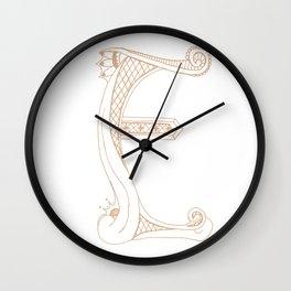 Fancy E Wall Clock