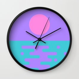 Paradise Sunrise II Wall Clock