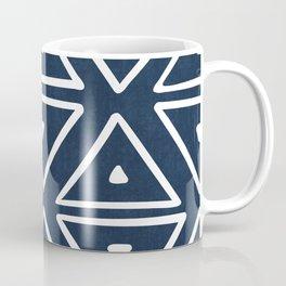 Big Triangles in Navy Coffee Mug
