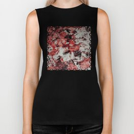 The Faces in the Ruby Red Snow Biker Tank