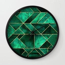Abstract Nature - Emerald Green Wall Clock