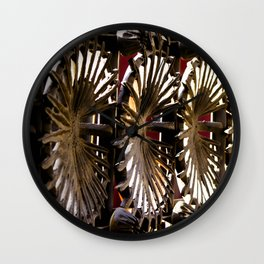 Abstraction of Spanish Metal Gate with Radial Circle Pattern Print Wall Clock