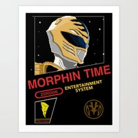 power rangers Art Prints featuring NES Power Rangers by IF ONLY